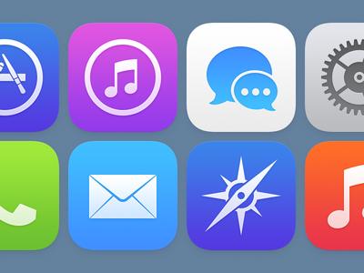 前苹果icon设计师对ios 7图标进行的改造