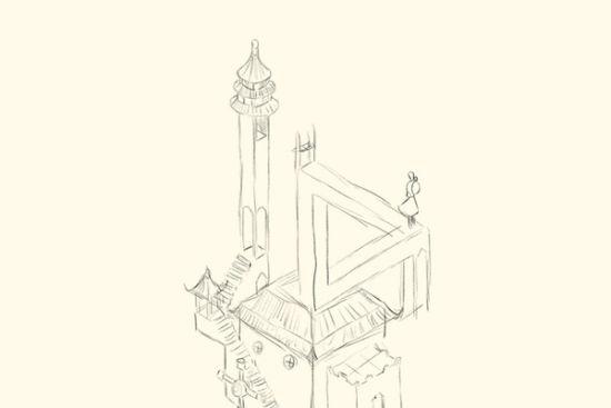 谷多手绘效果图