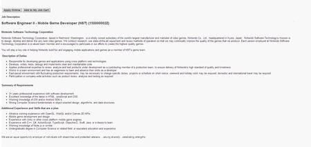 任天堂招聘iOS和安卓游戏开发者 或将涉足移动端