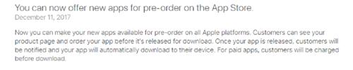 App Store新规:向所有开发者开放App预定功能