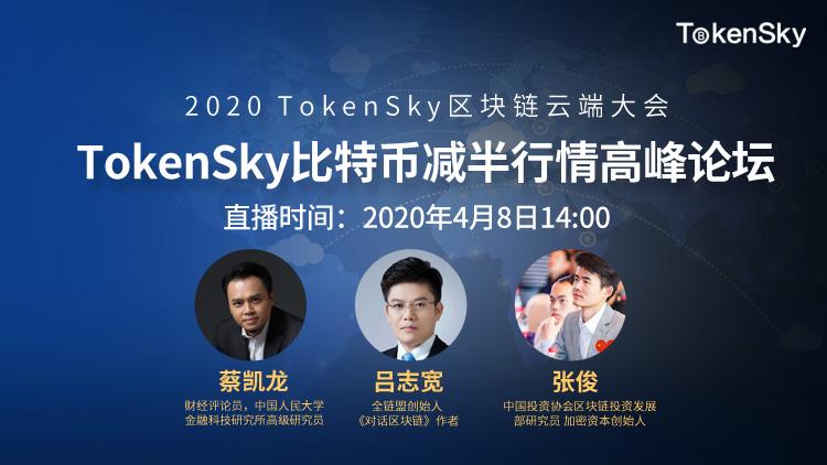 4月8日TokenSky比特币减半行情高峰论坛精彩快讯集锦:减半行情被高估,BTC的风险属性远大于避险
